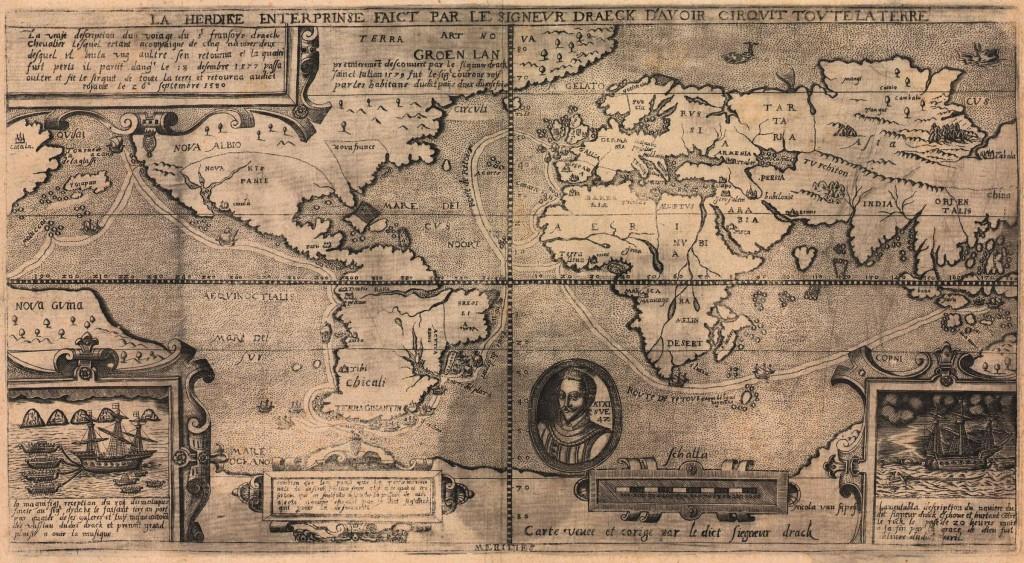 خريطة العالم في سنة1581