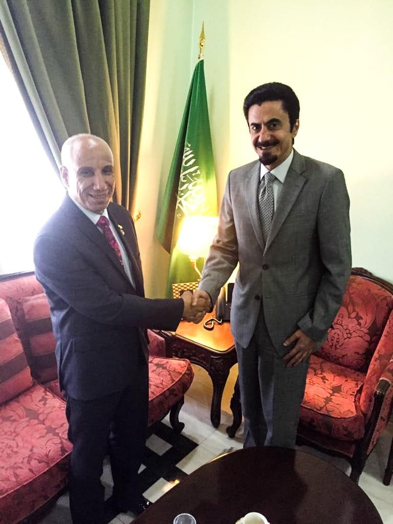 دكتور محمد عياش يطلع السفير السعودي في رومانيا على آخر مستجدات القضية الفلسطينية
