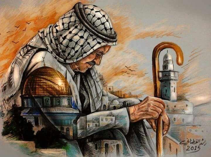 من روائع لوحات الفنان الفلسطيني التشكيلي رائد القطناني