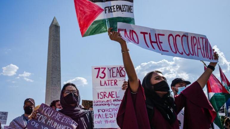 """حملة في أميركا تطالب بإرسال قوات دولية لحماية الفلسطينيين من """"عنصرية اسرائيل"""" متابعة : شوقى الفرا"""