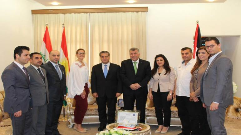 السفير نظمي حزوري يستقبل مسؤول العلاقات الخارجية في اقليم كردستان