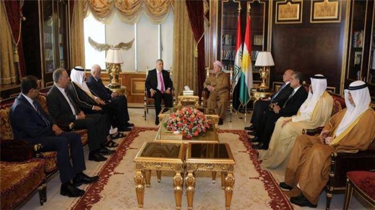 السفير نظمي الحزوري يلتقي الرئيس مسعود البرزاني رئيس اقليم كوردستان