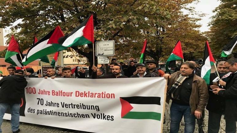 الحملة الشعبية الفلسطينية لمحاكمة بريطانيا والبيت الفلسطيني في برلين تصعد فعالياتها مع اقتراب الذكرى المئوية لوعد بلفور المشئوم