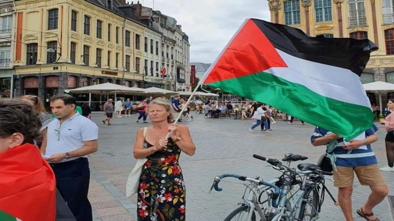 وقفة للجالية الفلسطينية شمال فرنسا ضد قرار الضم