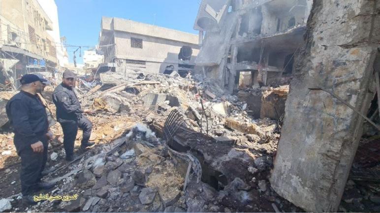 """وفق شهود عيان: إنفجار فى سوق الزاوية وسط غزة يوقع شهيد وإصابات""""مكان الإنفجار تخزين لمواد متفجرة"""" صور+فيديو. د. شوقى الفرا"""