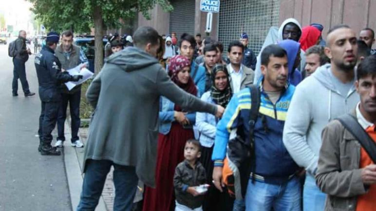 طالبي اللجوء في بلجيكا …. عن صفحة أيمن قنديل